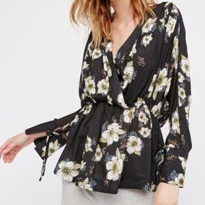 Free People Floral Tuscan Dreams Tunic